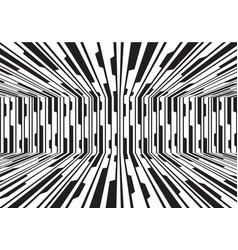 abstract black white line circuit room 3d vector image