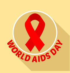 aids day logo set flat style vector image