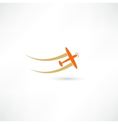 airplane symbols vector image