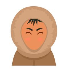 alaska man icon flat style vector image