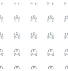 Ambulance icon pattern seamless white background vector