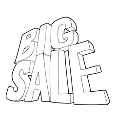 Big sale lettering icon outline style vector