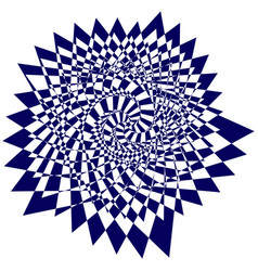 Blue sweeping pattern creates an optical vector