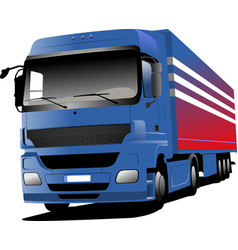 blue truck vector image