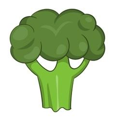 Broccoli icon cartoon style vector