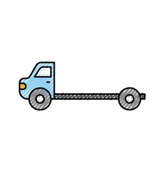 Cartoon tow truck repair transport assistance vector
