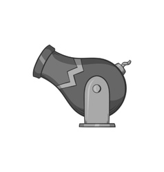 Circus cannon icon black monochrome style vector