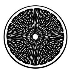 Citrus fruit icon vector