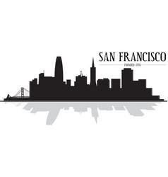 City san francisco skyline silhouette vector
