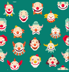 clowns entertaining people emotions of man pattern vector image