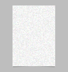 color circle pattern brochure template vector image