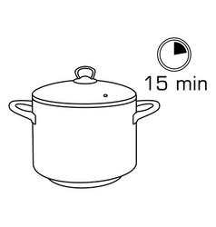 cooking pan pot isolated on white background vector image