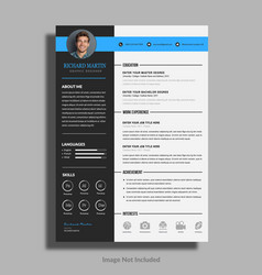 Cv or resume template vector