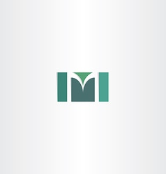 dark green letter m logo symbol vector image