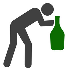 drunky man icon vector image