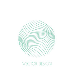 emblem green color vector image
