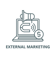 External marketing line icon linear vector