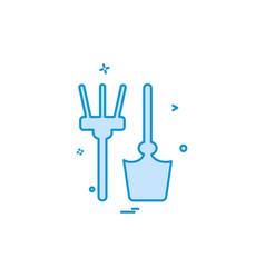farmer tools icon design vector image