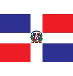 Flag of the Dominican Republic vector