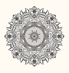 floral mandala decorative round ornament vector image