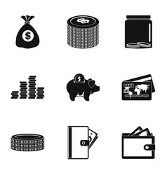 Grant icons set simple style vector