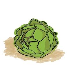 Green Artichoke vector image