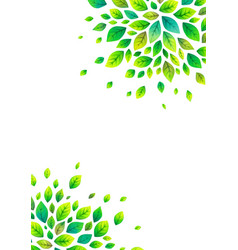 green spring leaves poster background vector image