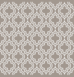Grey line qatrefoil seamless pattern vector