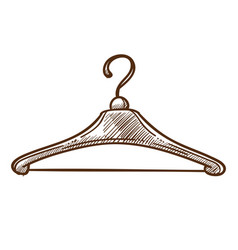 hanger isolated sketch tailor shop or boutique vector image