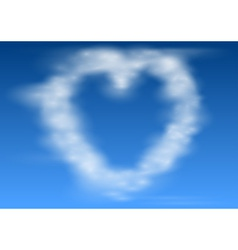 Heart Shaped Clouds vector image