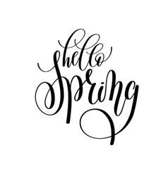 hello spring hand written lettering inscription vector image