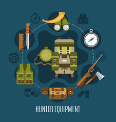 hunter equipment concept vector image