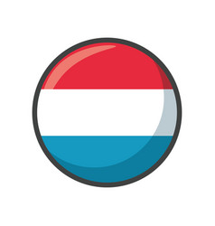 Isolated luxembourg flag icon black design vector