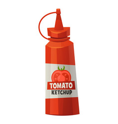 Ketchup bottle isolated on white background vector