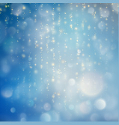 lights on blue background bokeh effect eps 10 vector image