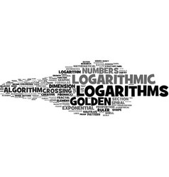 Logarithms word cloud concept vector