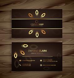 Luxury golden business card vector