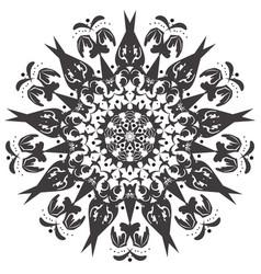 mandala flower bird fairy art vector image