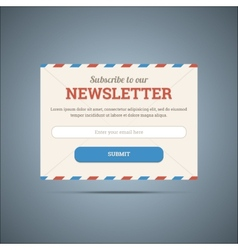 Newsletter subscribe form for web and mobile vector image