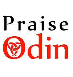 Odin- the graphic is a symbol of the horns of odin vector