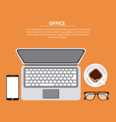 office working process vector image