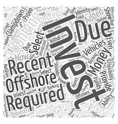 Offshore Investment Banking Word Cloud Concept vector image