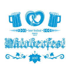 oktoberfest 2017 blue logo concept design vector image