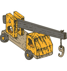 orange wooden crane vector image