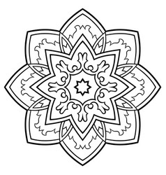 Ornamental simple mandala vector