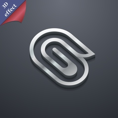 Paper clip icon symbol 3D style Trendy modern vector