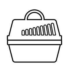 Portable cage for pets icon outline style vector