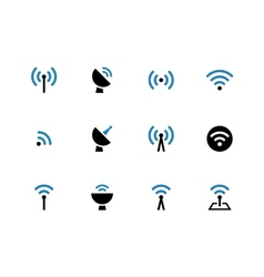 Radio Tower duotone icons on white background vector