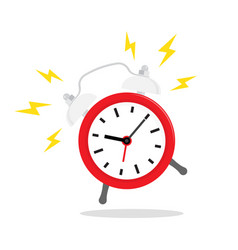 red alarm clock ringing icon isolated on vector image
