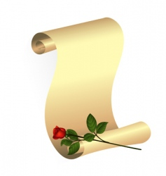 rose and scroll vector image